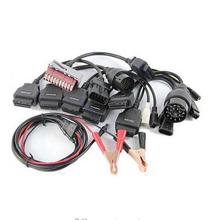 Whole saleHigh Quality Car Cable Full Set 8pcs for tcs cdp pro plus/MVD/WOW/Kess Auto Diagnostic interface Car cables free ship