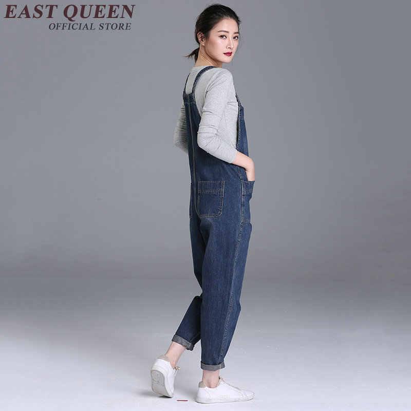 1d782410410 ... Casual womens jumpsuit long black denim jumpsuit slim dungarees bib overalls  trousers pant plus size 5xl ...