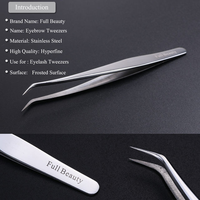 1pc Profession Stainless Eyebrow Tweezer Eyelash Flower Extension Beauty Makeup Tools High Precision Quality Tweezers CHU01-05 3