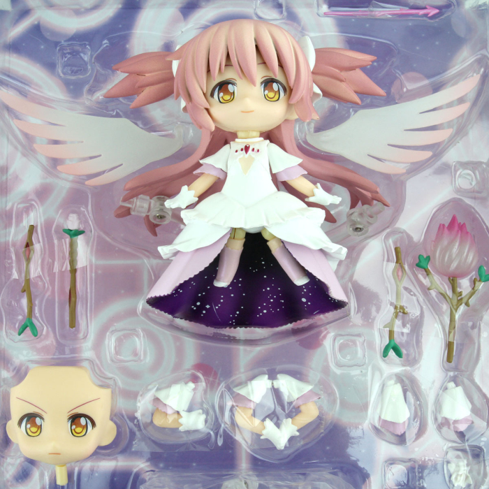 Japanese anime figures Cute 4 Nendoroid Puella Magi Madoka Magica Kaname Madoka doll Action Figure Model Collection sexy toy puella magi madoka magica tomoe mami gold short cosplay wig free two ponytails