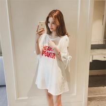 Yfashion Women Loose Large Size Off-the-shoulder Printing Dress Summer Girl Dress High Quality Natural Simple 2019 printing off the shoulder flounce dress