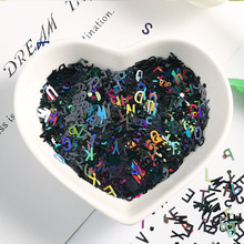 DIY 10g Ultrathin 4mm letter shape Sequins Nail Glitter Paillettes Laser Eo-Friendly PET Sequin Nails art Manicure Material