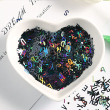 DIY 10g ultra ince 4mm mektup şekli pul tırnak Glitter Paillettes lazer çevre dostu PET pullu çivi sanat manikür malzeme