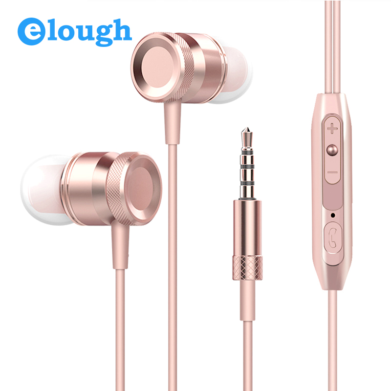 Elough In-ear Earphone For Phone With Mic 3D Noise Canceling Headphone Headset Earpiece For iPhone Xiaomi Mobile Phone Earbuds 100% original xiaomi hybrid pro hd earphone with mic in ear hifi noise canceling headset circle iron mixed for xiaomi note4 mi 6