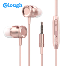 Elough In-ear Earphone For Phone With Mic 3D Noise Canceling Headphone Headset Earpiece For iPhone Xiaomi Mobile Phone Earbuds