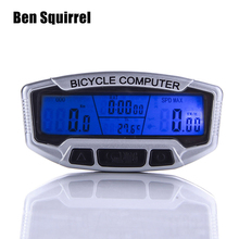 Functions Waterproof Bicycle Computer Digital LCD Bike Speedometer Odometer Velometer Backlight Cycling Accessories