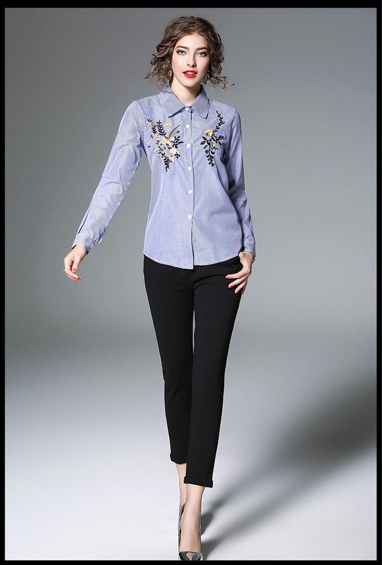 Willstage White Shirts Floral Embroidery Blue Striped Blouses Women Minimal Pearls Cap Sleeve Dress Biru Xl 1 If You Are Satisfied With Our Products And Services Please Leave Your Positive Feedback 5 Stars Long Buyers Show