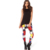 2016 Rojo Y Azul patrón de cuatro colores blanco y negro cuadrados de moda impreso Leggings flaco delgado Leggings