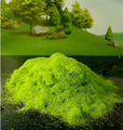 100G lightgreen material de areia tabela modelo de construção da paisagem Ao Ar Livre gramado relva pó viscose