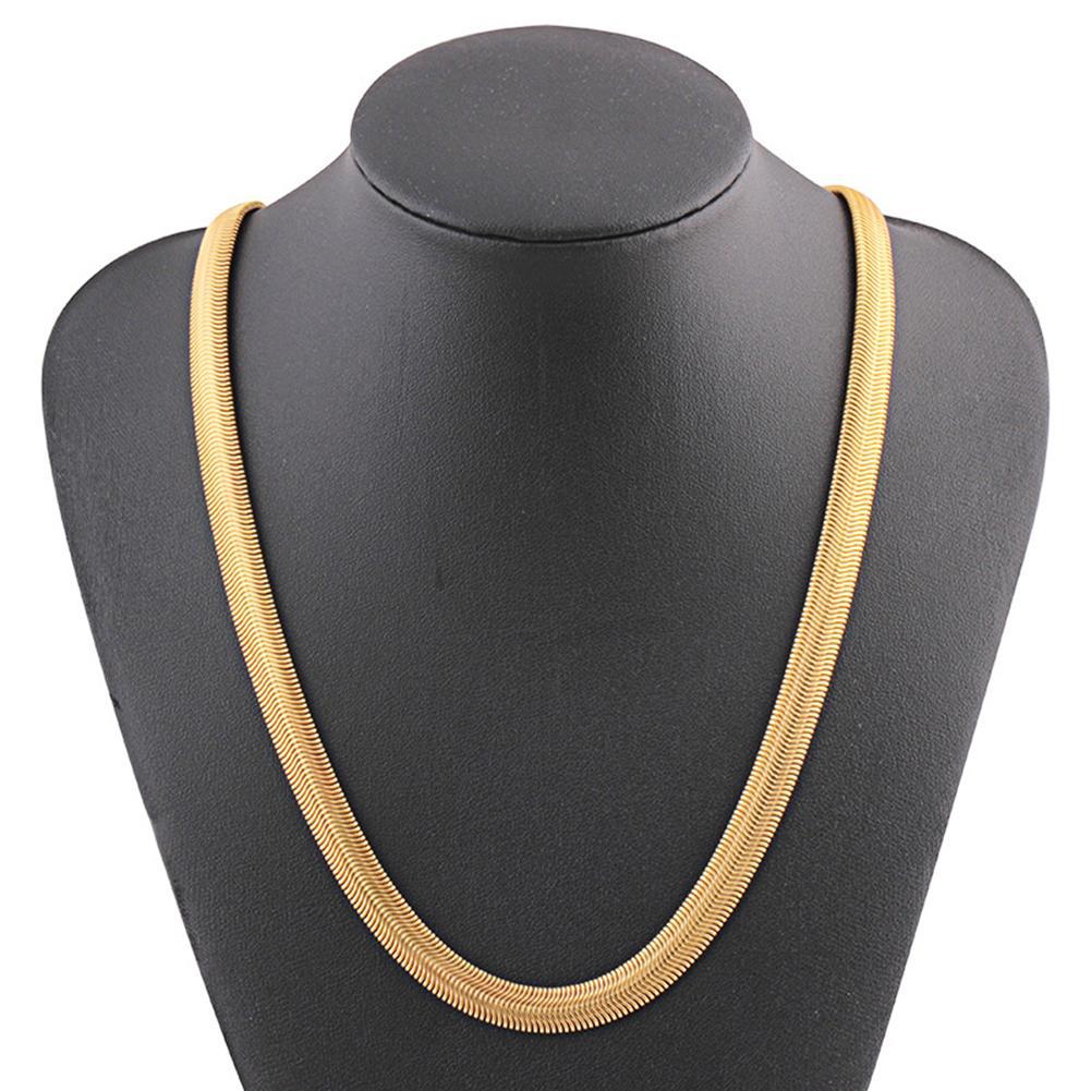 Fashion Punk Hip Pop Rock Kpop Rapper Unisex Copper Snake Chain Necklace Jewelry