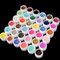 36 Colors / Set Sequins UV Nail Gel Shiny Color For Nail Art Decoration Design Dried UV lamp Long Lasting Shiny Hot Sale