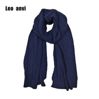 Leo Anvi Knitting Scarf Winter Leisure Fashion Keep Warm Long Women S Neck Scarf Woolen Bandana