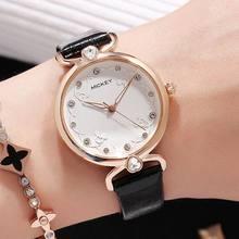 Señoras reloj mujer relojes de cuarzo de cuero de Disney Mickey mouse  femenino marca reloj de mujer las mujeres relojes 0146d1398c6c