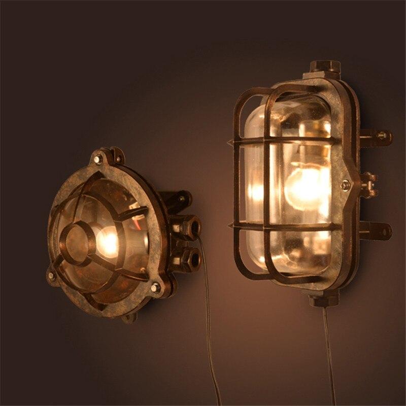 Винтажный светодиодный настенный светильник, наружный настенный светильник, водонепроницаемый садовый настенный светильник, светильники