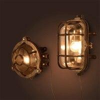 Винтаж светодиодный открытый настенный светильник бра освещение Водонепроницаемый сад настенные светильники Алюминий Стекло под старину