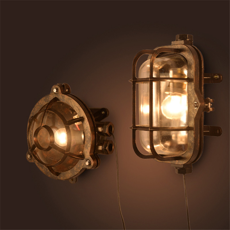 Vintage LED Wall lamp Outdoor Wall Sconce Lighting Waterproof Garden Wall Light Fixtures Aluminum Glass Antique Porch Lighting american vintage wall lamp led outdoor wall sconce lighting ip65 waterproof garden wall light fixtures iron glass porch lights