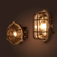 Vintage LED Wall lamp Outdoor Wall Sconce Lighting Waterproof Garden Wall Light Fixtures Aluminum Glass Antique Porch Lighting