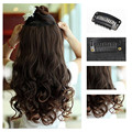 "New Hot Women Ladies 19"" Long Curly Wavy 5 Clips In On Hair Extensions Full Head Top"