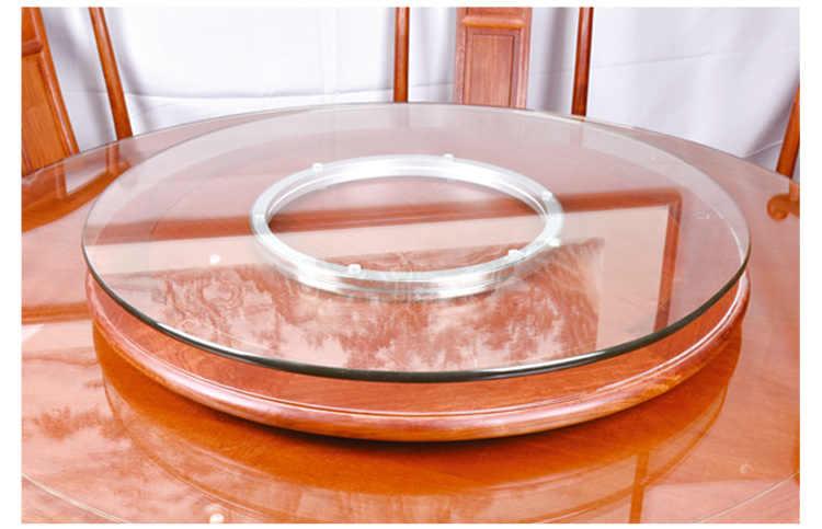 Поворотная витрина из алюминиевого сплава, поворотный стол, вращающееся стекло вращающееся основание, нескользящая, высокая нагрузка, фурнитура для мебели