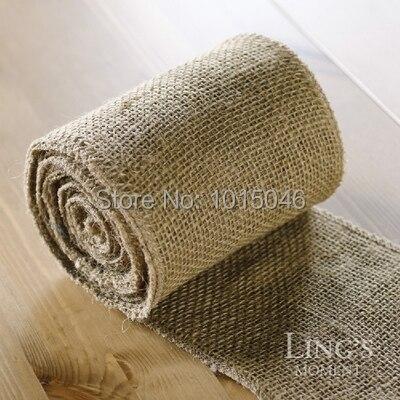 livraison gratuite 10 metres 15 cm largeur jute chemin de table toile de jute tissu pour