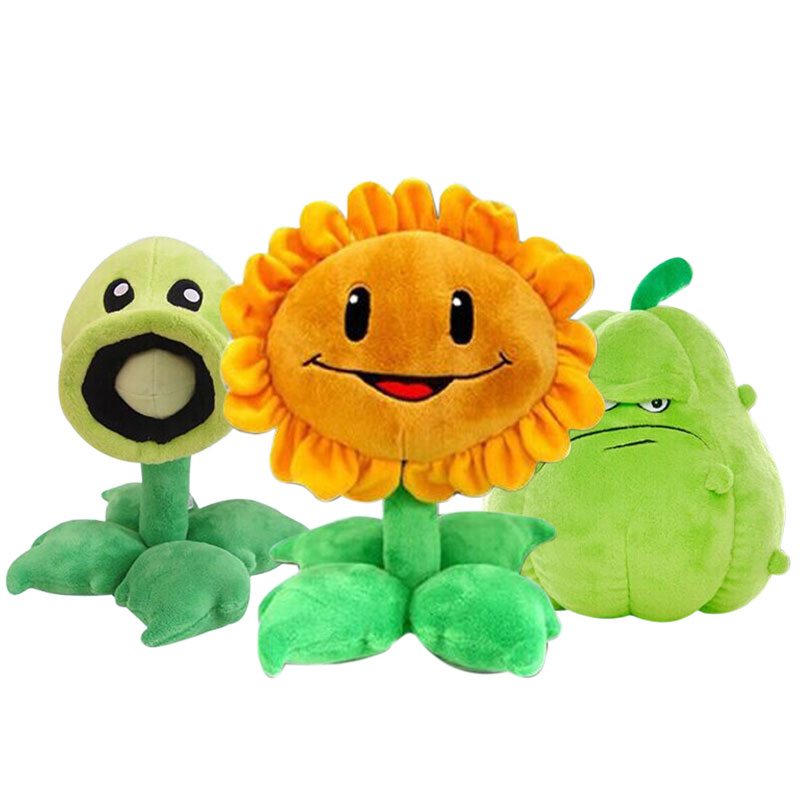 American Cartoon Movies Plants VS Zombies Plush Toys Cute Pea Shooter Sunflower Squash Stuffed Plush Toys Doll Kids Gift FL