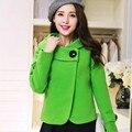 Хорошее качество шерстяной куртка бомбер плюс размер S-XXL осень куртка женская зимняя мода Стройное ветровка Оранжевый Розовый Красный Зеленый Синий бомбер женский 1111