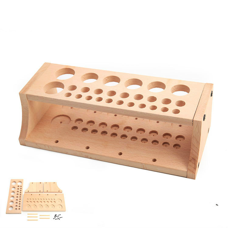 Tool Rack DIY Leather Tool Table    Printing Wax Line Storage Box Solid Wood