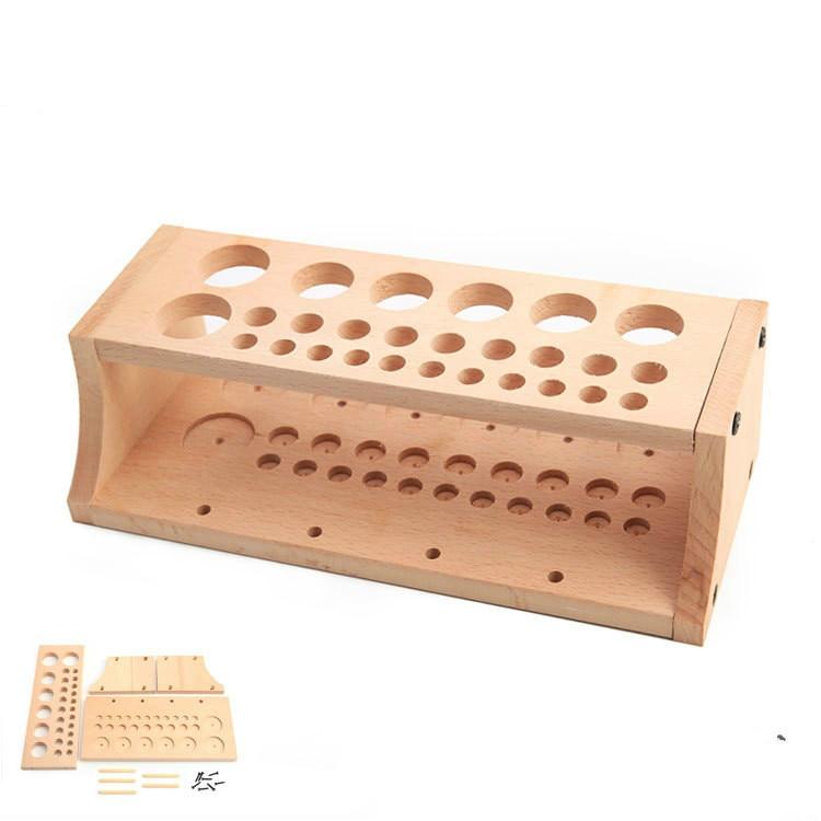 Tool Rack DIY Leather Tool Table    Printing Wax Line Storage Box Solid Wood