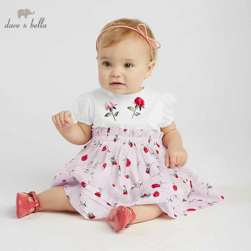 DB10217 dave bella summer baby girl lolita floral clothes children birthday party wedding dress kids boutique dresses