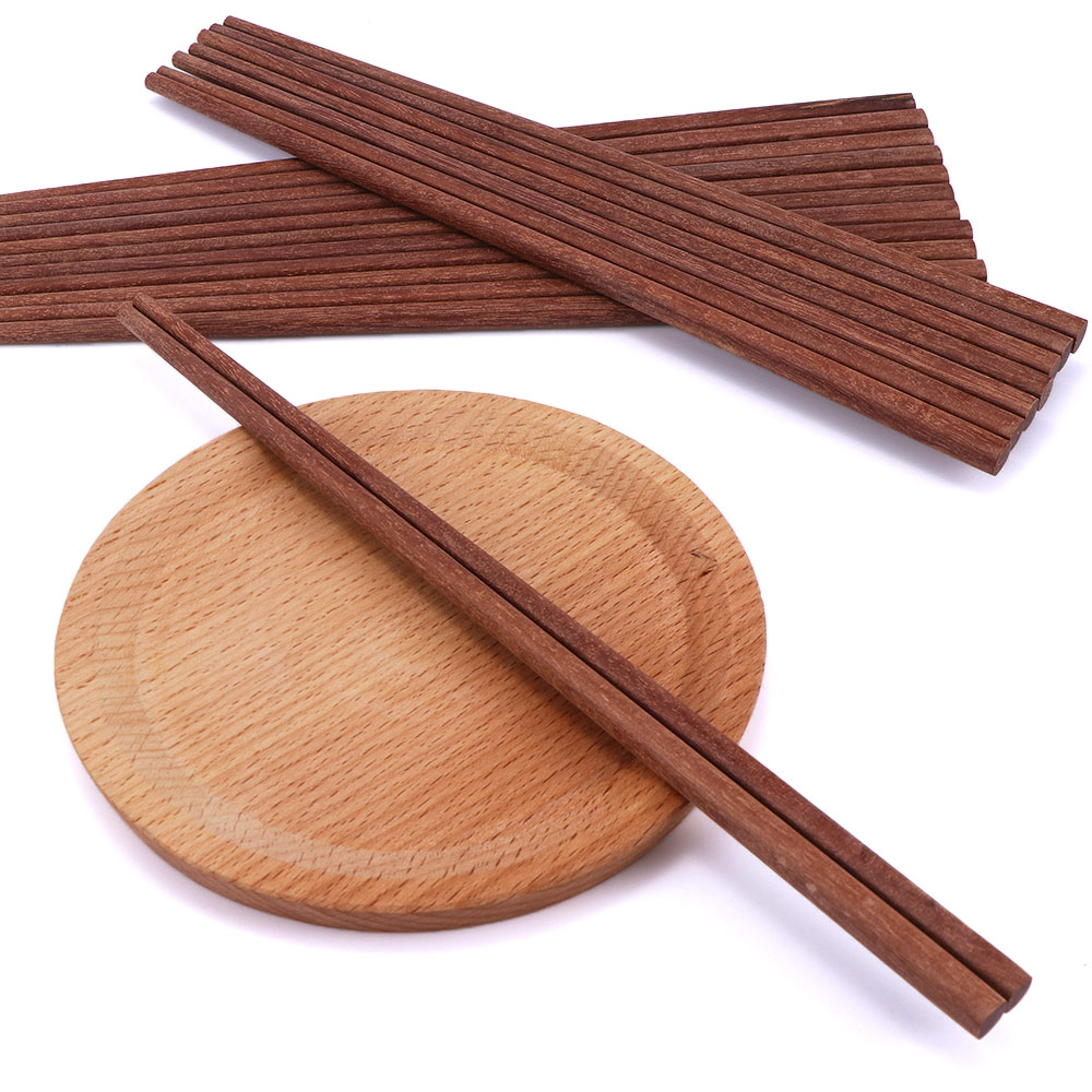 10 Pairs Reusable Chinese Classic Wooden Chopsticks Handmade Natural Chicken Wing Wood Chopsticks Kitchen Accessories