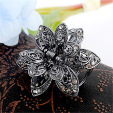 Vintage 3 Color Big Crystal Flower Hair Claws Wedding Hair Clip