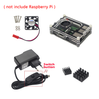Raspberry Pi 3 Model B+ Plus Accessories kit 9-layer Acrylic Case+CPU Fan+5V 2.5A Power Adapter+Heat Sink for Raspberry Pi 3