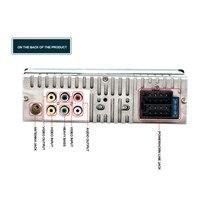 Asvegen 1 DIN 12V Car Radio 4.1 Inch HD Screen Bluetooth Car Stereo Music FM Tuner MP3 MP4 Player Rearview Camera Radio ISO plug