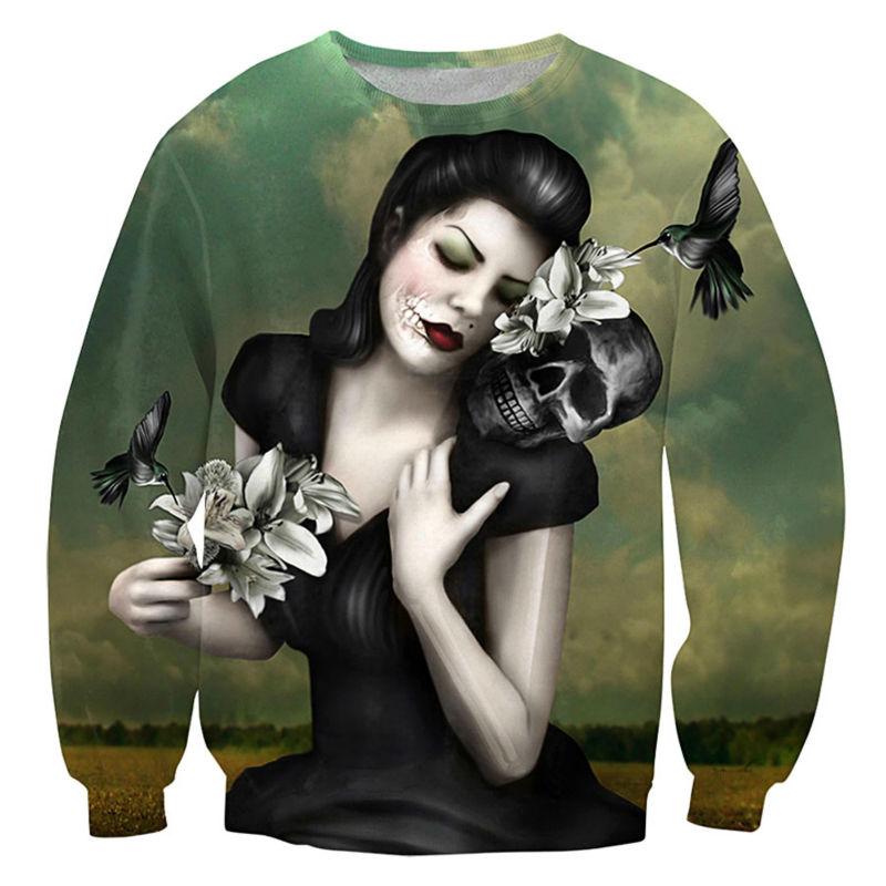 Classic Painter Frida Kahlo Daft Punk Print Women 3D Sweatshirts Vintage Skull Hoodies Casual Sweat For Unisex Retro Pullover