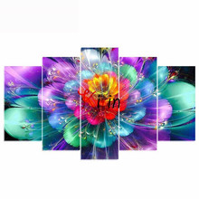 5pcs set DIY Diamond Mosaic abstract flower 5D Painting Cross Stitch Kits Embroidery Patterns