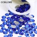 CCBLING Crystal Sapphire ss3-ss30 bag Nail Rhinestones Flat Back Non Hotfix Glitter Nail Stones,DIY 3d Nail Phones Decorations