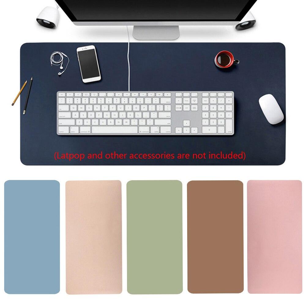 60x30 cm grande couro escritório computador mesa tapete moderno jogo de mesa teclado mouse almofada do portátil macio qualidade superior