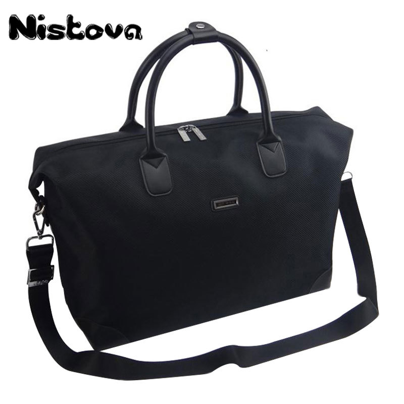 Nistova Waterproof Handbag Women Duffel Travel Tote Oxford Jacquard Travel Bag Weekend Bag Large Capacity Overnight Bag