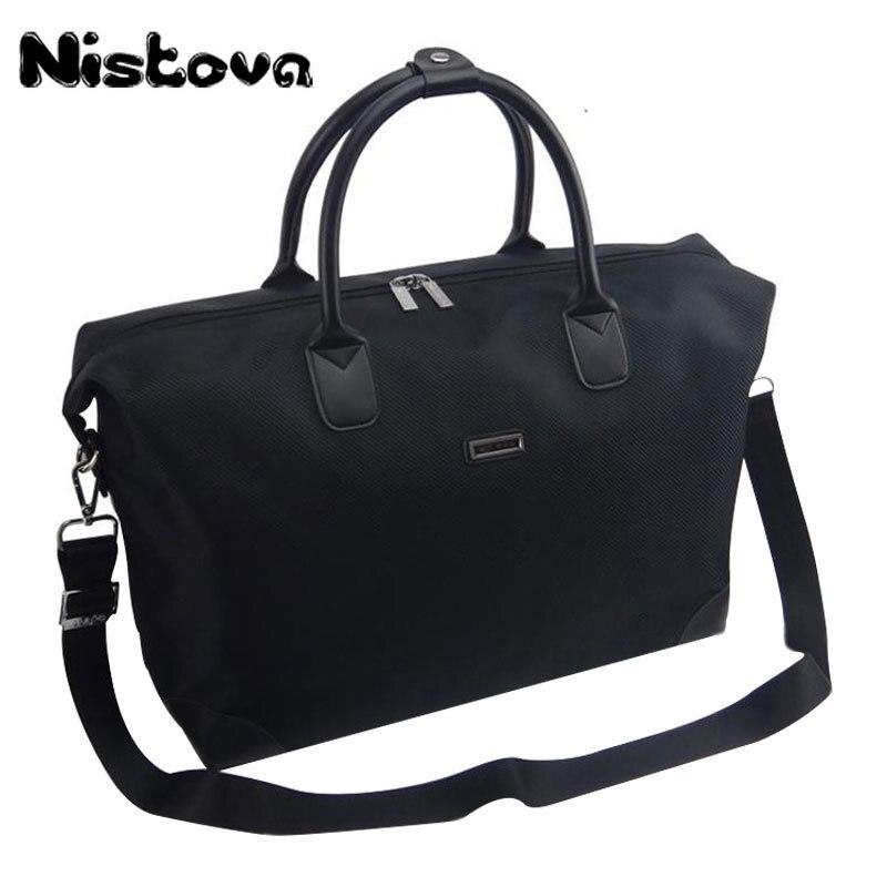 Nistova Waterproof Handbag Women Duffel Travel Tote Oxford Jacquard Travel Bag Weekend Bag Large Capacity Overnight Bag