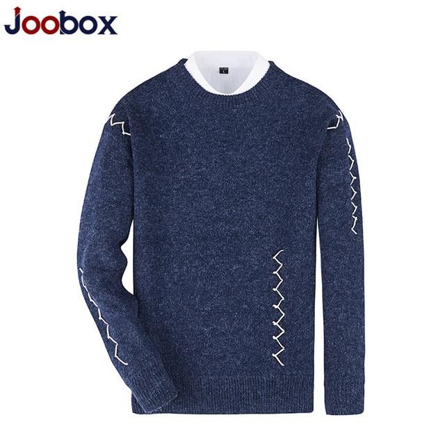 buy online 2532e 12b1f US $23.36 39% OFF|JOOBOX Marke 2017 Herren Pullover Fashion Casual Hemd  Wolle Pullover Männer Kleidung Pull Oansatz Kaschmir Pullover männlichen ...