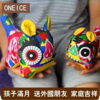 Pure Handmade Cloth Tiger Chinese Wind Folk Arts And Crafts Small Gifts Decoration To Send Foreigners