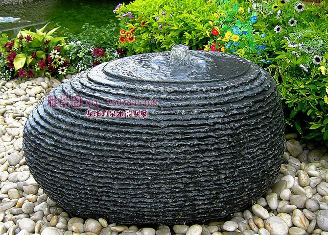 Outdoor Garden Patio Water Feature Hand Carved Black Granite Water   Patio  Water Fountains