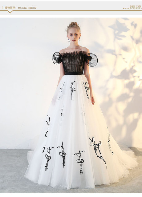 60%real Black Ruffled Ballet Pattern Embroidery Royal Court Interesting Medieval Dress Pattern