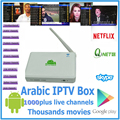 Nuevo Producto Quad Core Inteligente Android IPTV IPTV Caja Arabox 1000 HD Teatro HD WIFI