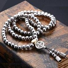 Открытый полный Сталь самообороны рук браслет цепь 108 Будды бисер Цепочки и ожерелья цепь индивидуальной защиты мульти инструменты