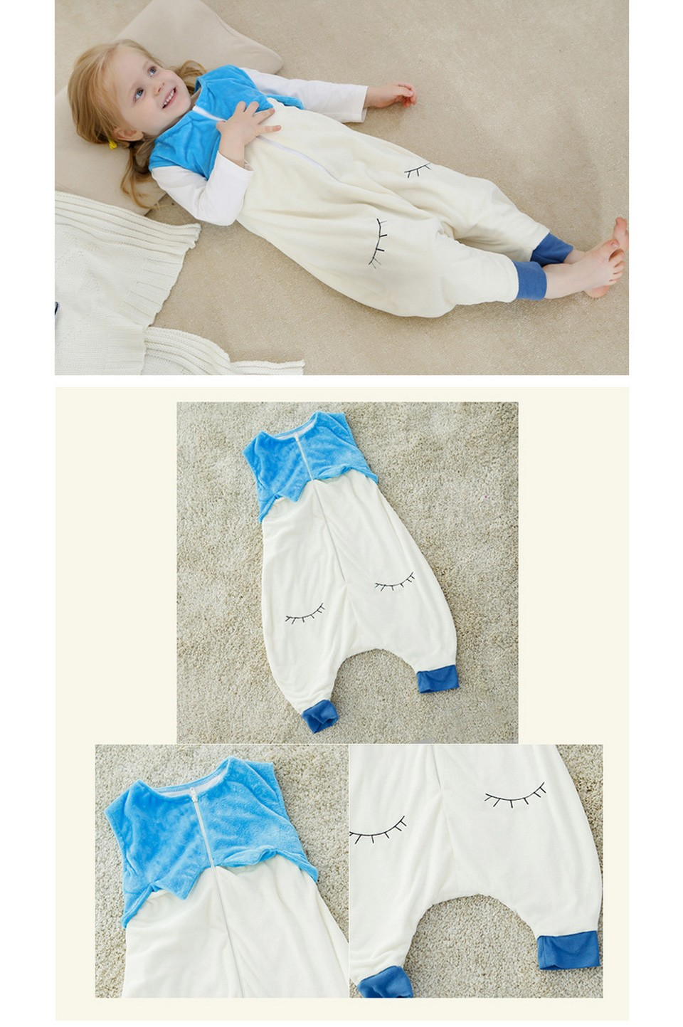 31d87ee665 New Arrival Newborn Sleeveless Baby Sleeping Bag Embroidery Cartoon ...