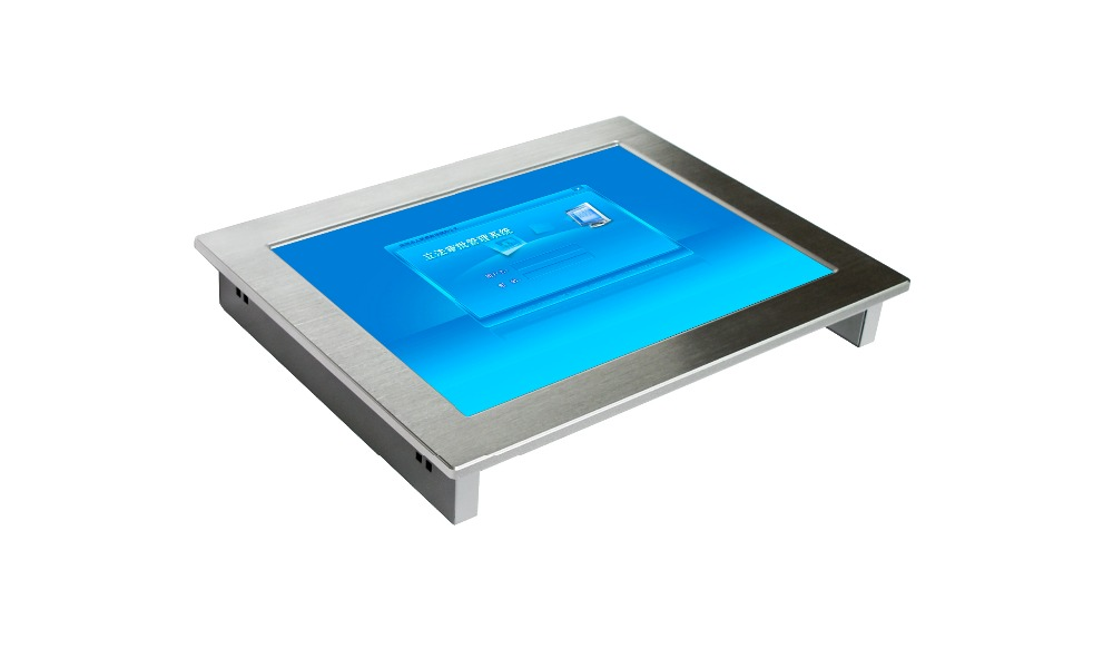 touch screen 15 inch mini fanless industrial panel pc 32G SSD& 2G RAM with intel atom N2800 CPU
