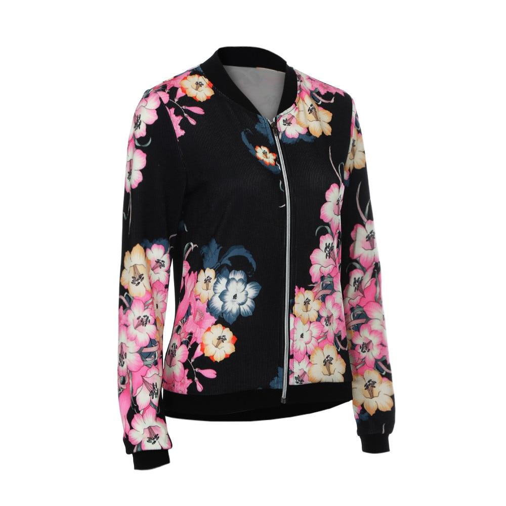 Womens Ladies Biker Celeb Camo Flower FLoral Print Zipper Up Bomber Jacket Y82523 ...
