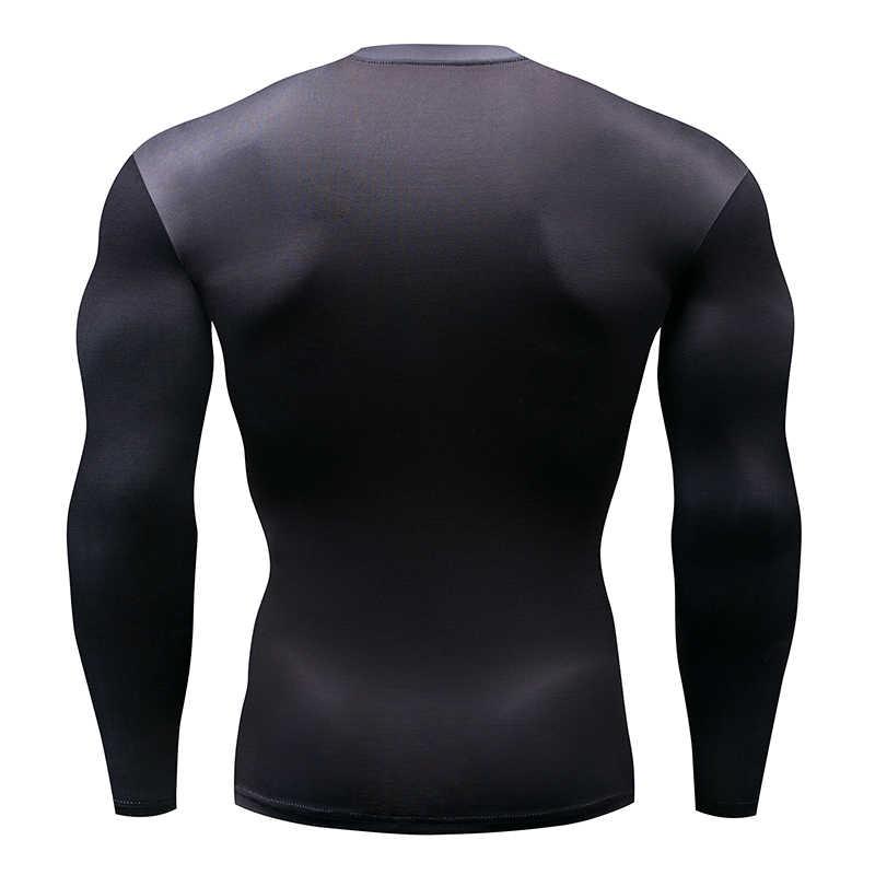 2018 แฟชั่นแขนยาวเสื้อยืดผู้ชาย 3D พิมพ์-ผิวชายอัดเสื้อ MMA Rashguard ผู้ชาย gymS Top เพาะกาย Comfo
