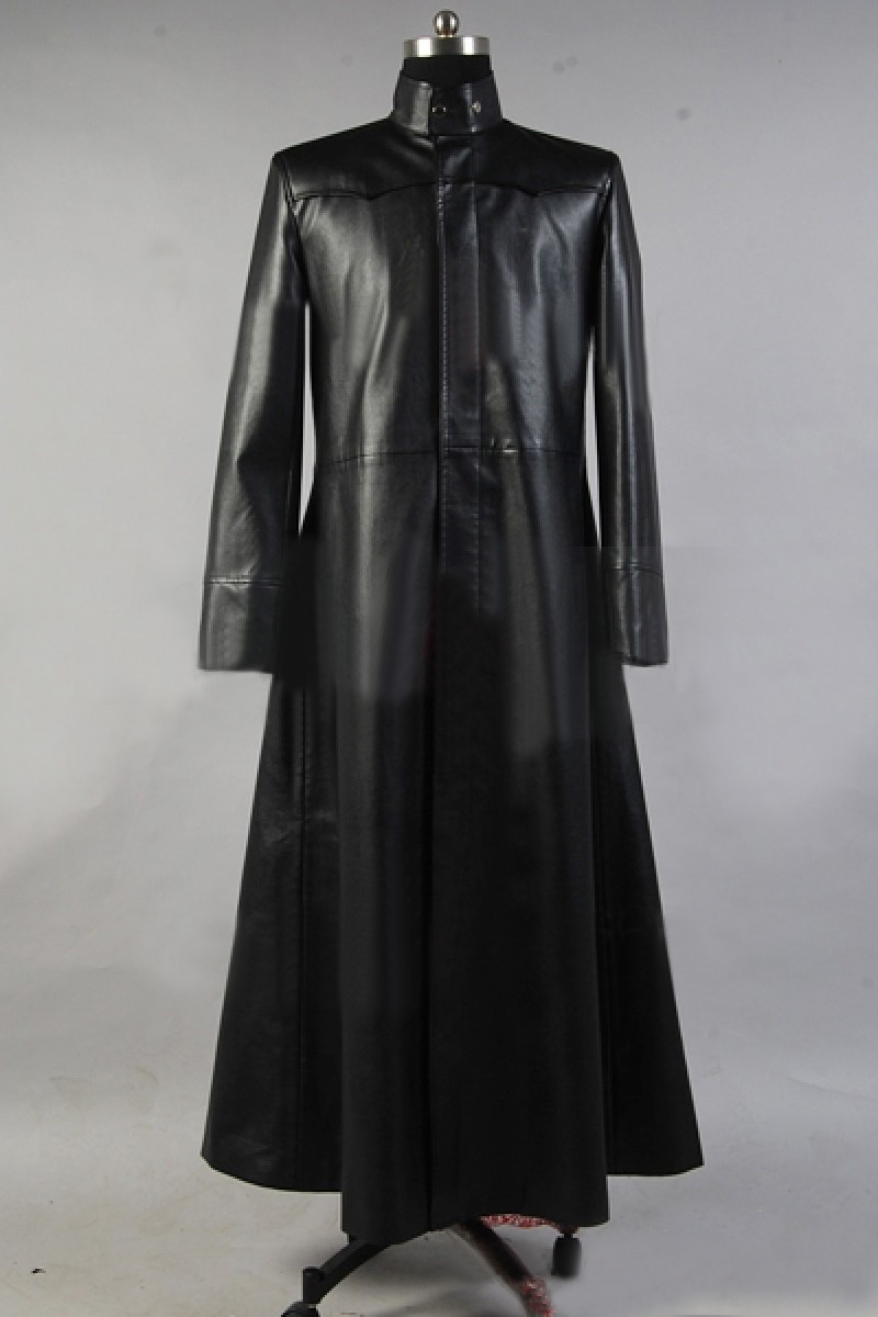 Free Shipping Matrix Neo Long Black Leather Coat Cloak Cosplay Trinity My Amplifier Costume In Mens Costumes From Novelty Special Use On Alibaba Group